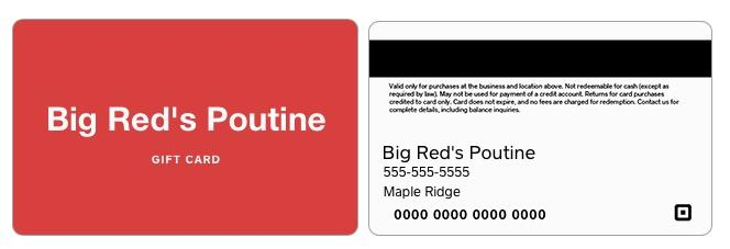 big reds poutine gift card
